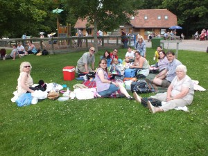 Some of the picnickers